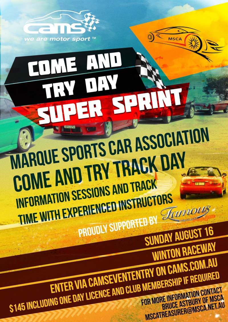 MSCA Come and Try Day @ Winton Raceway